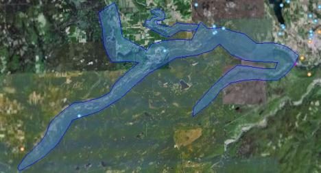 104 km of land, homes and wildlife habitat under water if the Site C dam is built