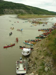 the Paddle for the Peace 2008 with 347 participants