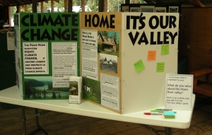 display of interim research results at the Paddle for the Peace 2008