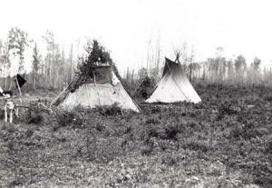 teepees at the Treaty 8 signing in 1899