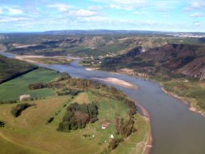 river islands are safe calving grounds for moose, elk and deer
